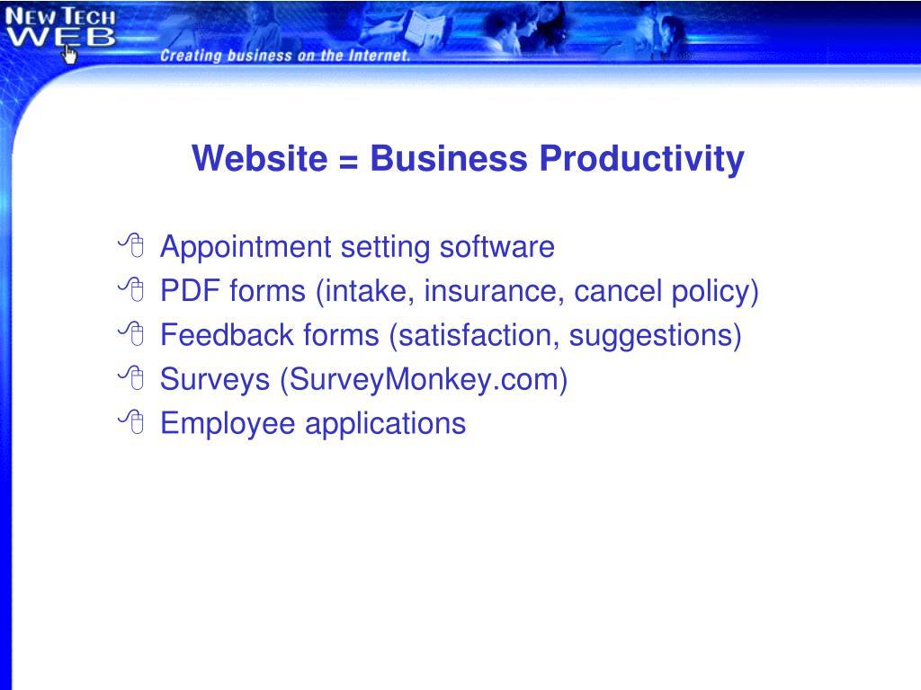 Website = Business Productivity