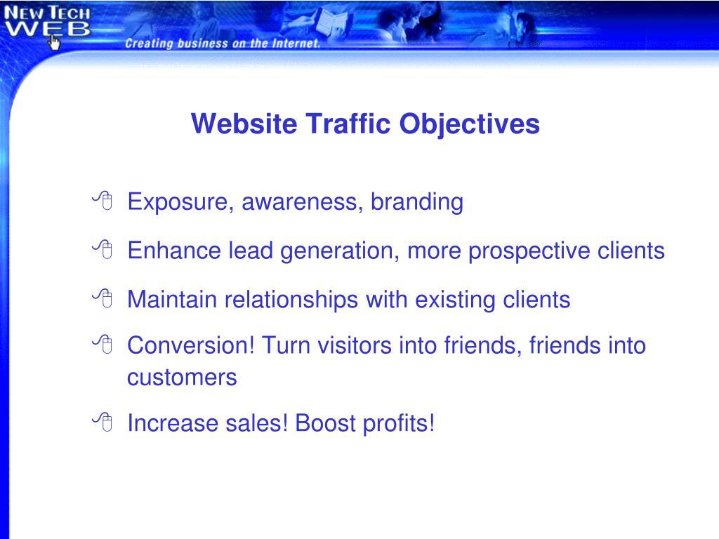 Website Traffic Objectives