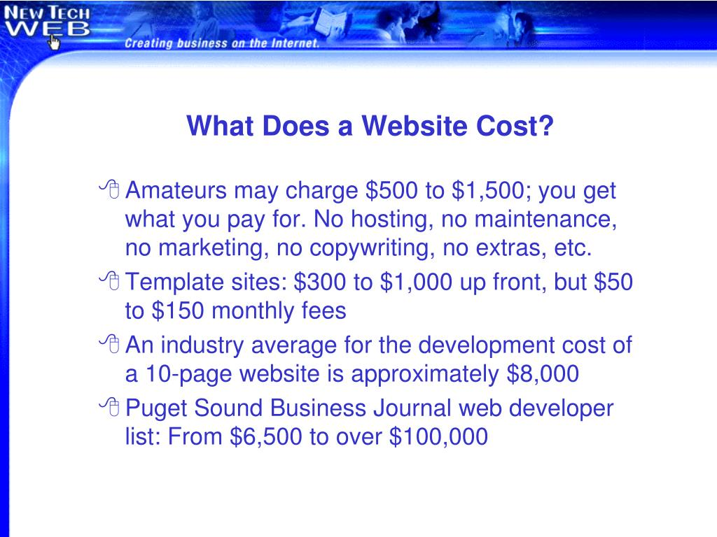 What Does a Website Cost?