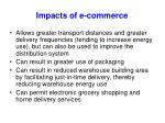 impacts of e commerce