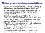 methods to improve engine mechanical efficiency