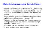 methods to improve engine thermal efficiency