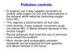pollution controls