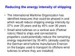 reducing the energy intensity of shipping