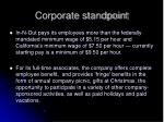 corporate standpoint
