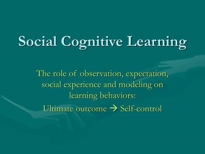 social cognitive learning n.