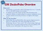 gm dealerpulse overview