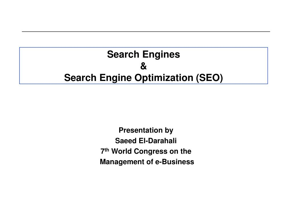 search engines search engine optimization seo l.