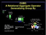 cube a relational aggregate operator generalizing group by
