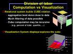 division of labor computation vs visualization
