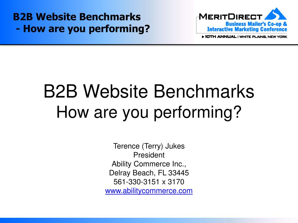 b2b website benchmarks how are you performing l.