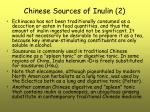 chinese sources of inulin 2