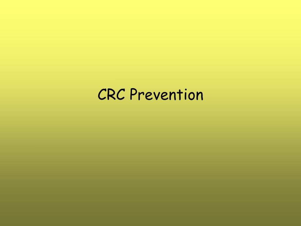 crc prevention l.