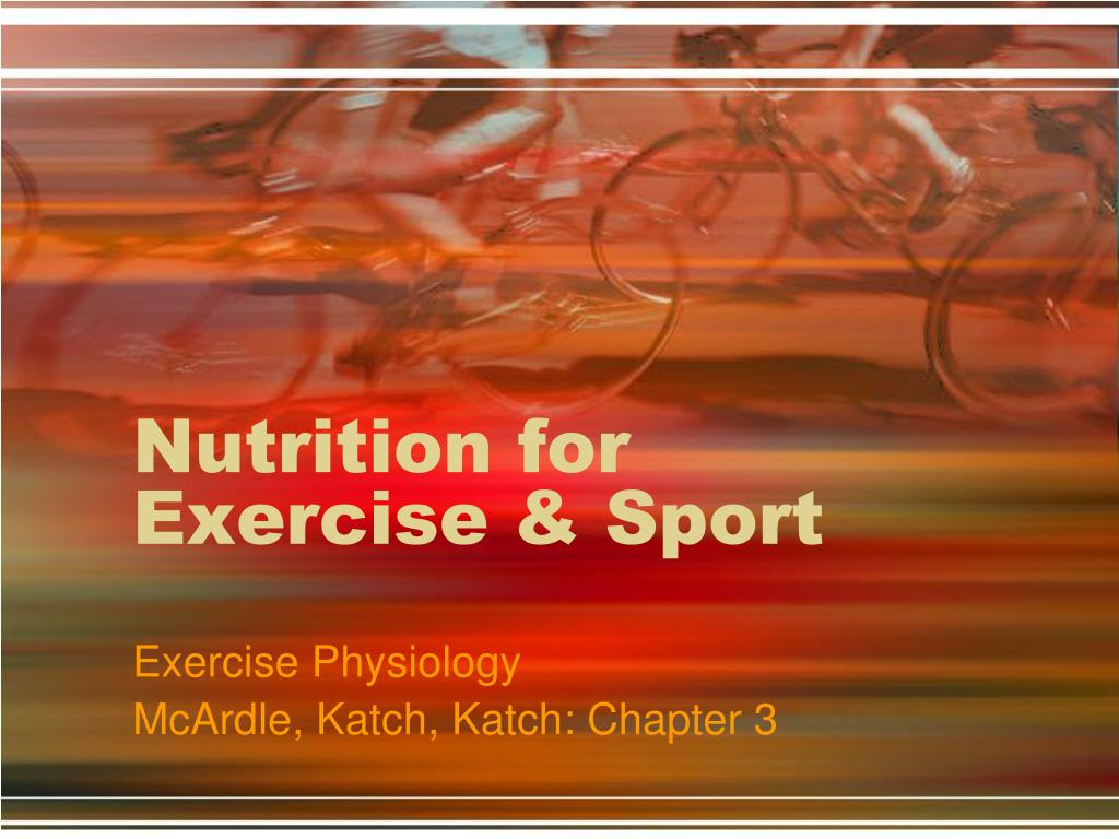 nutrition for exercise sport l.