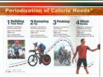 periodization of calorie needs