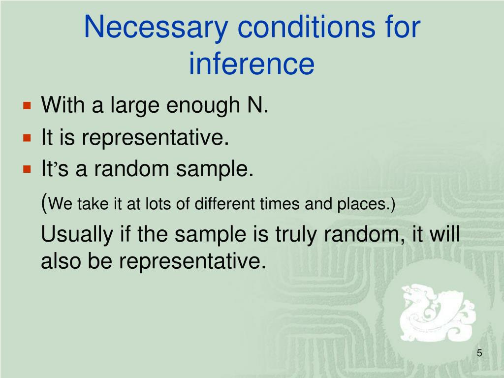 Necessary conditions for inference
