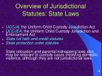overview of jurisdictional statutes state laws