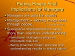 putting people first implications for managers