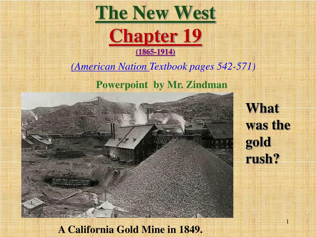 the new west chapter 19 1865 1914 l.