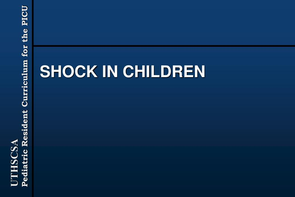 shock in children l.