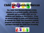 child care services bureau