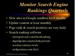 monitor search engine rankings quarterly