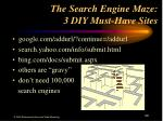 the search engine maze 3 diy must have sites