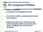 6 3 the assignment problem