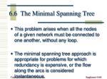 6 6 the minimal spanning tree