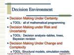 decision environment