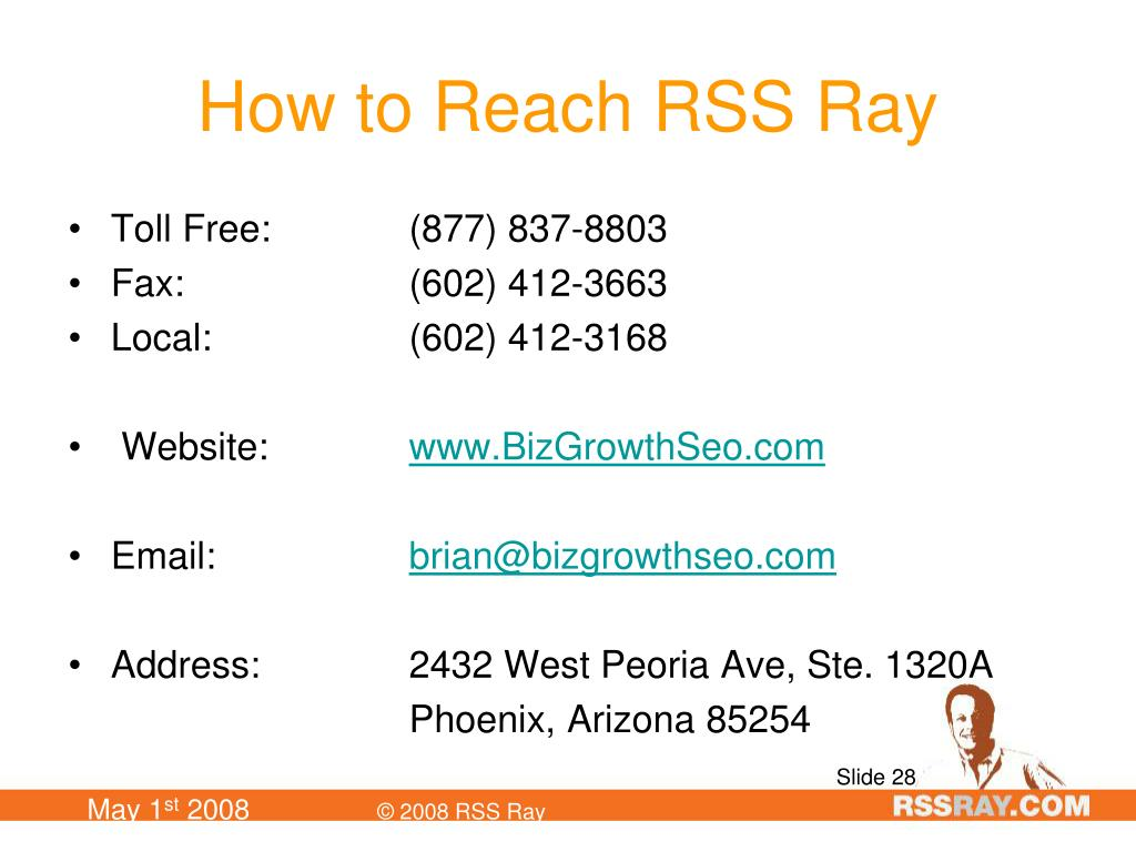 How to Reach RSS Ray