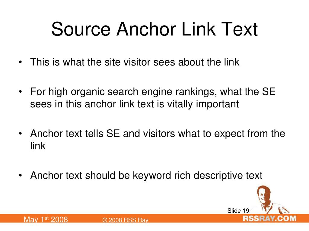 Source Anchor Link Text