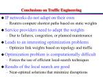 conclusions on traffic engineering