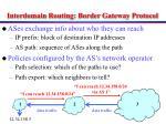 interdomain routing border gateway protocol