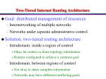 two tiered internet routing architecture