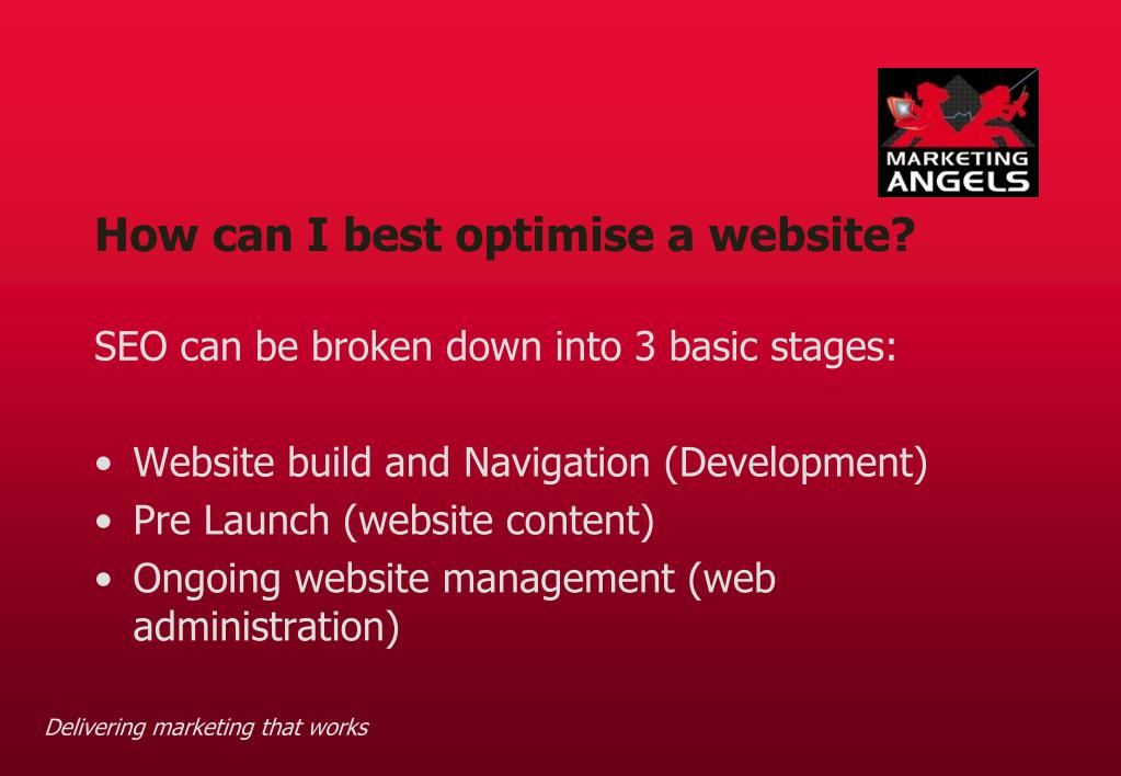 How can I best optimise a website?