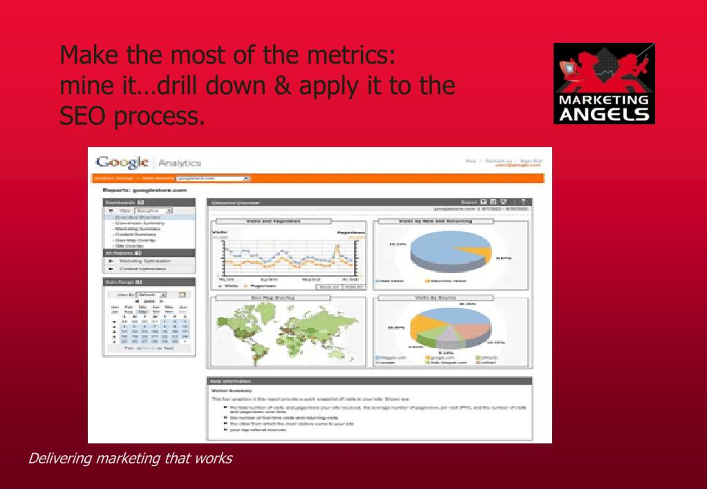Make the most of the metrics: