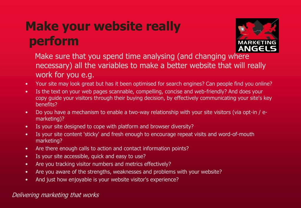 Make your website really