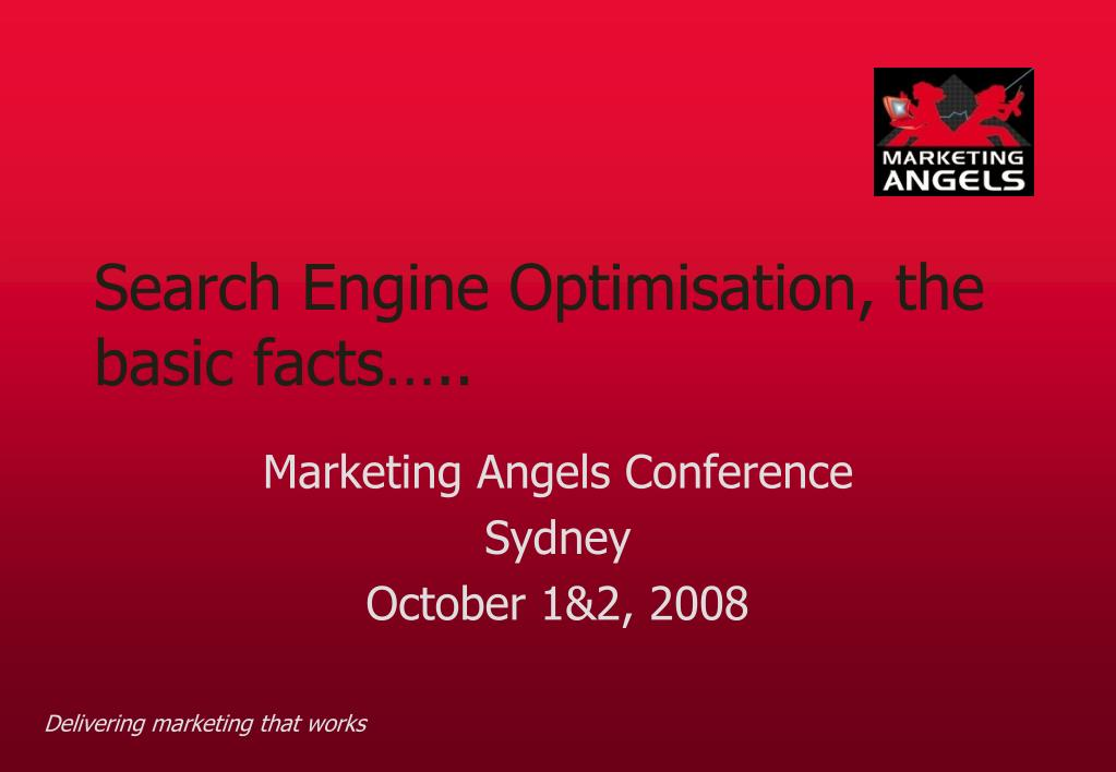Search Engine Optimisation, the basic facts…..