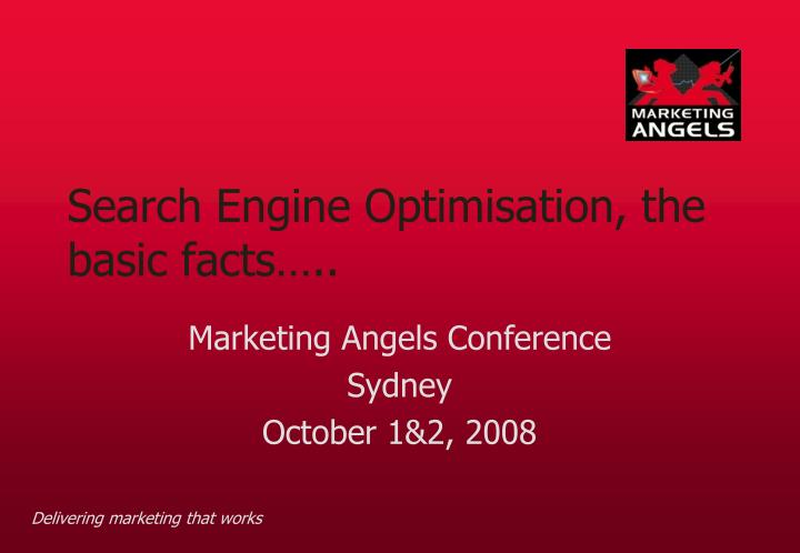 Search engine optimisation the basic facts