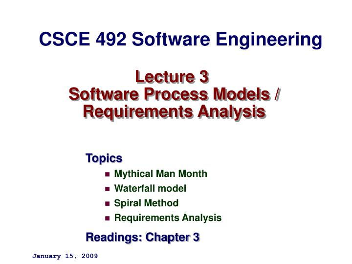 lecture 3 software process models requirements analysis n.