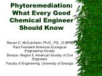 phytoremediation what every good chemical engineer should know
