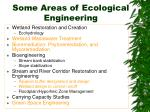 some areas of ecological engineering