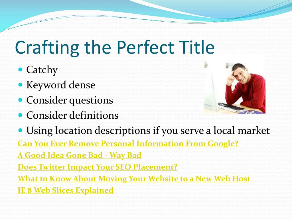Crafting the Perfect Title