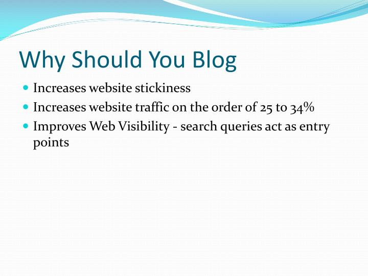 Why should you blog3