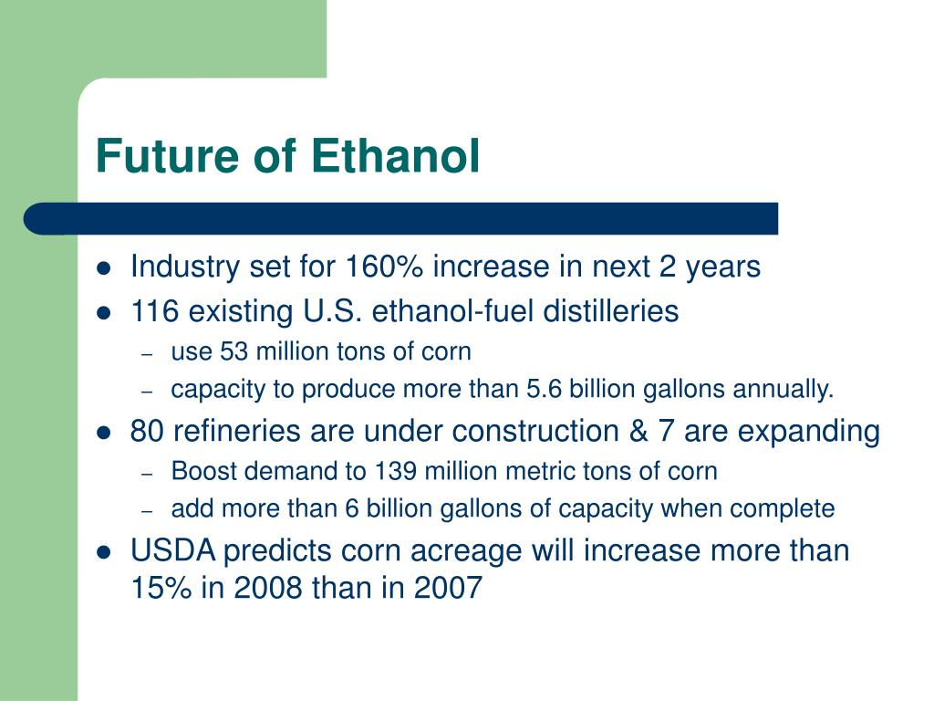 ethanol the fuel of the future
