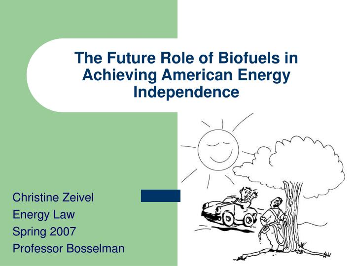 the future role of biofuels in achieving american energy independence n.