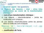 le registre des mod les et la repr sentation de la transformation chimique24