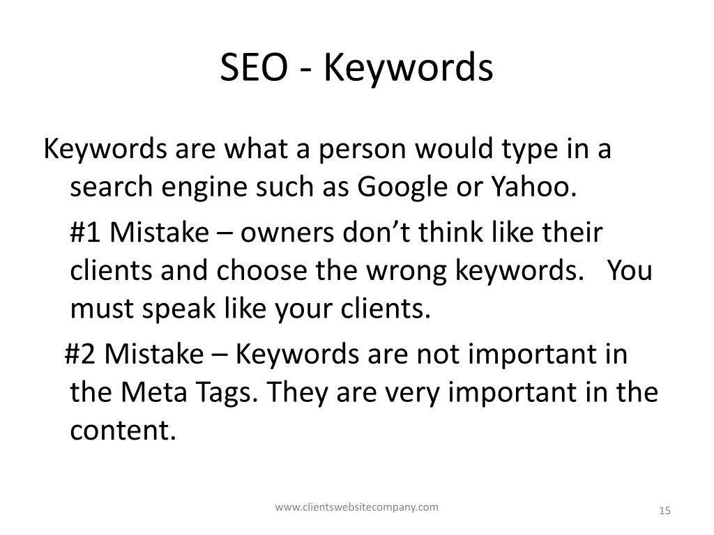 SEO - Keywords