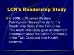 lcn s readership study